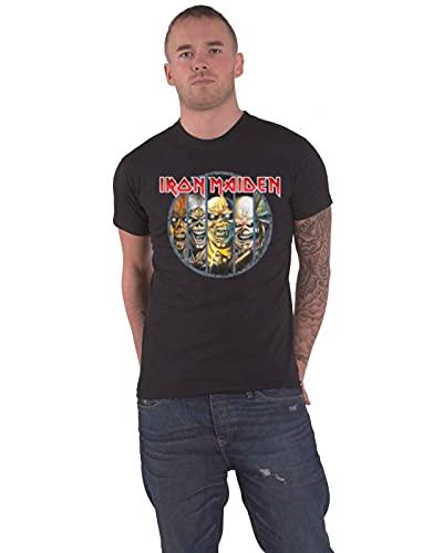 Collectors Mine - Camiseta de Iron Maiden con cuello redondo de manga corta para hombre, Negro, 50 (L)