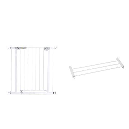 Hauck Barrera de Seguridad de Niños para Puertas y Escaleras Auotclose N Stop incl. Extension 21 cm, Sin Agujeros, 96 - 101 cm, Metal, Blanco