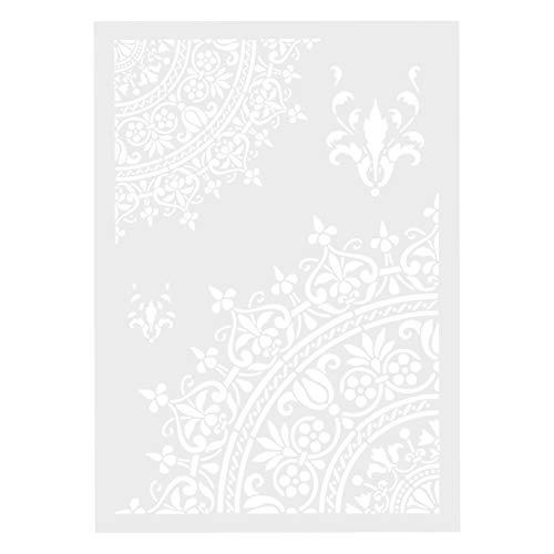 Moligin - Plantilla de pintura para decoración de pared, diseño de flores, tamaño A4, decoración de paredes, muebles, manualidades