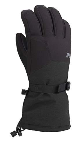 Gordini Men's Men's Aquabloc Down Gauntlet Iii Waterproof Insulated Gloves, Black, Large