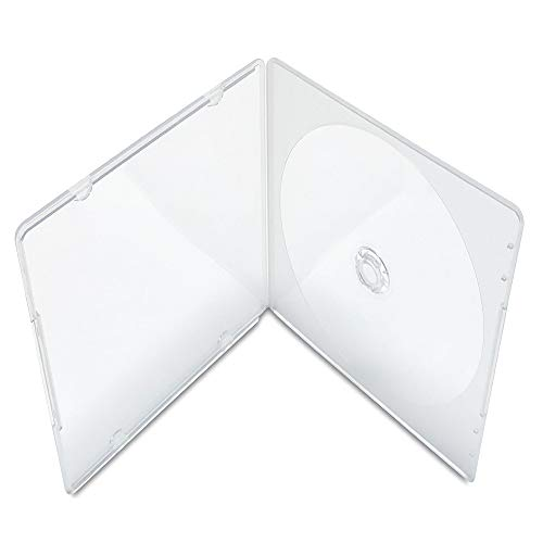 KEYIN Slim Single Clear PP Poly CD Case, 100-Pack