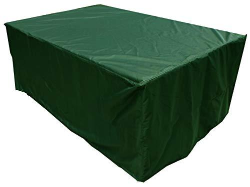 KaufPirat Premium dekzeil 260x100x85 cm tuinmeubelen tuintafel hoes afdekking kap beschermhoes afdekhoes dennengroen