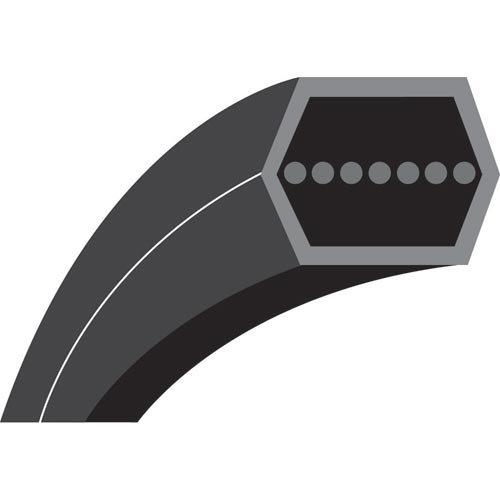 AA112M V-riem zeskant voor zitmaaier Husqvarna – Jonsered modellen CTH160 & CTH200 (opvangbak achter) – lengte buitenkant: 2898 mm – origineel nummer: 532169178