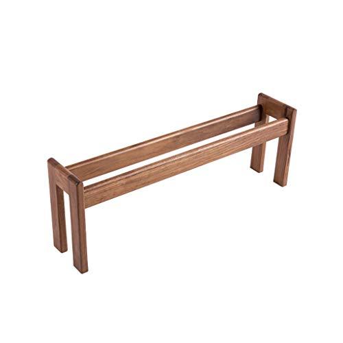 Shoe bench Kreativer einzigartiger Massivholz-Slipper-Rahmen, einfaches Massivholz-kleines Rechteck-Schuhregal, 50cm lang, platzsparendes Möbel-kleines Holzregal (Farbe : B)