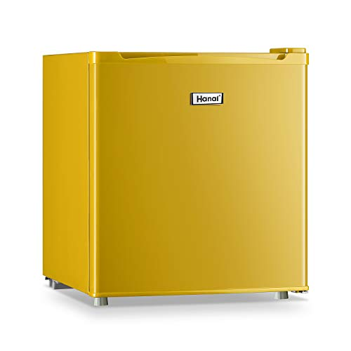 WANAI Compact Refrigerator 1.7 Cubic Ft Classic Retro Refrigerator Single Door Mini Fridge Suitable for Dorm Garage and Office