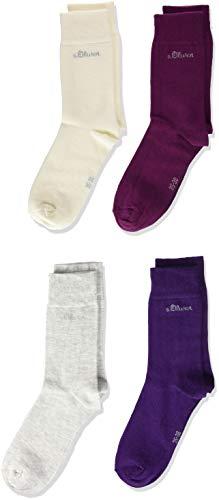 s.Oliver Socks Mädchen S20205, Violett (Shadow Purple 4900), 31-34, 4er Pack
