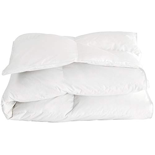Downcy - Bettdecke mit weißen Naturdaunen, Obermaterial 100% Baumwolle, 260 x 220cm