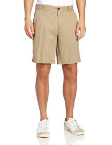 IZOD Men's Saltwater Flat Front Short, True Cedarwood Khaki, 29W