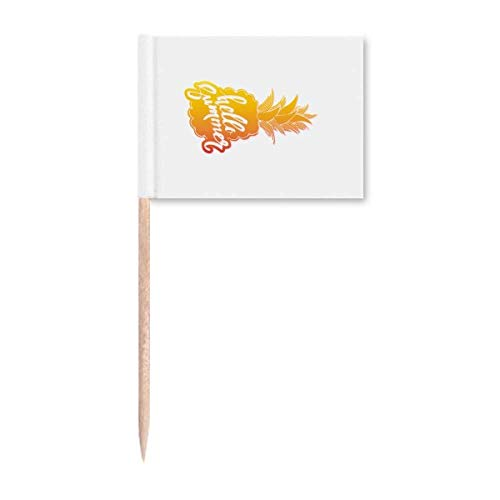 PineFruit Sommer Sonnenschein Obst Zahnstocher Flaggen Marker Topper Party Dekoration