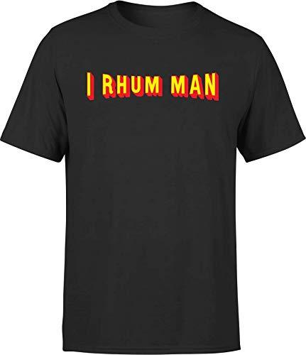 T Shirt Homme i Rhum Man   Cadeau Homme fête des pères Humour Papa Anniversaire Original Rigolo Humoristique