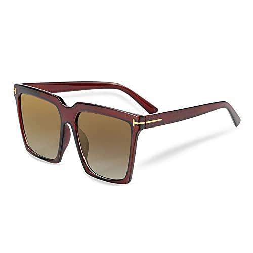 MIMITU Gafas de sol cuadradas de moda Gafas de sol de lujo para mujer Gafas retro clásicas UV400, C7, color de imagen
