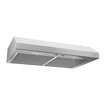 Broan-NuTone BCSEK130WW Glacier Energy Star Certified Range Hood with Ligh Exhaust Fan for Under Cabinet, 1.5 Sones, 250 CFM, 30-Inch, White