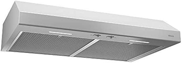 Broan-NuTone BCSEK130WW Glacier Energy Star Certified Range Hood with Ligh Exhaust Fan for Under Cabinet, 1.5 Sones, 250 CFM, 30-Inch, White