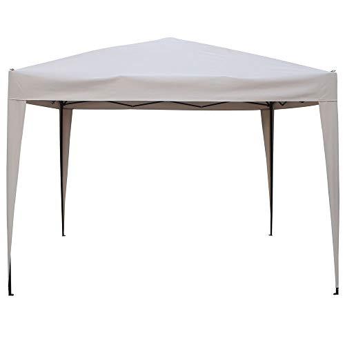HESPERIDE Gazebo Tenda da Giardino Padiglione Pieghevole 3x3 m Color Sabbia - in Alluminio trattato con Vernice epossidica - Ottima qualità - Si Monta e Si smonta in pochi Minuti!