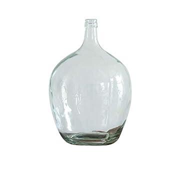 Retro Floor Pot-bellied Glass Vase - Minimalist Vintage Streamlined Beautiful Glass Vase - With Wide Base And Slim Neck Decorative Vase - Used In Living Room Dining Room Hallway Bedroom M 30cm