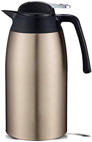 SLM-max Tasse à Eau Portable,Pot d'isolation Domestique 304 Bouilloire en Acier Inoxydable Grande capacité Thermos Portables Thermos Tasse Ouverte 2100 ML Thermos