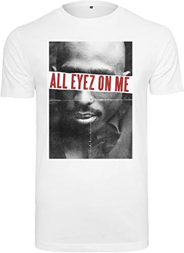 Mister Tee 2pac All Eyez On Me tee Camiseta, Blanco, M para Hombre
