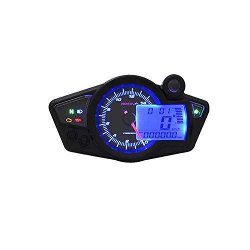 Tacho KOSO Digital Cockpit RX1N, Display schwarz unterlegt, blau beleuchtet