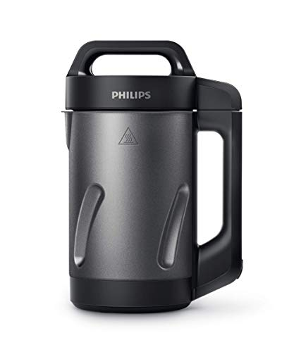Philips HR2204/80 Viva Collection SoupMaker, 1000 W, 1.2 Litri, Acciaio Inox, Nero