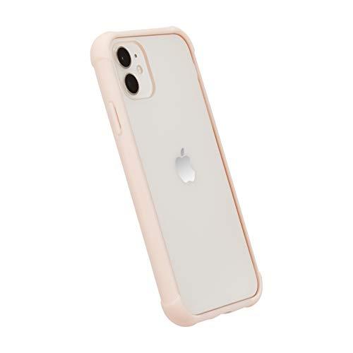 Amazon Basics - Cover per iPhone 11, in TPU +PC (rosa), modello trasparente, protettivo e antigraffio