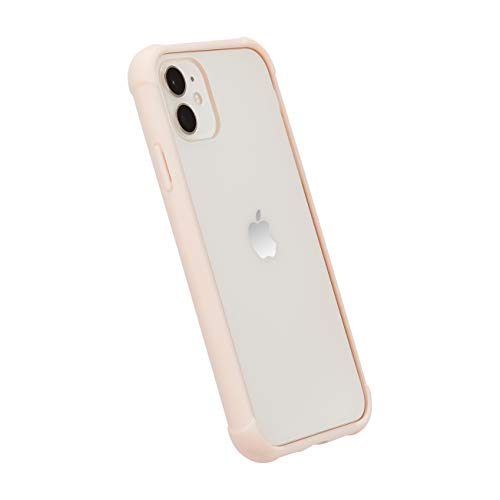 AmazonBasics - Funda protectora para iPhone 11, TPU+PC (rosa), antiarañazos