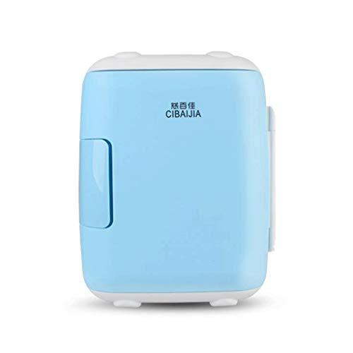 Portable Réfrigérateur, Réfrigérateur de voiture 5L 12V / 220V de camping-car électrique de refroidisseur de refroidisseur de moteur de voiture électrique (Couleur : Bleu)