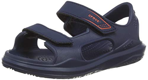Crocs Swiftwater Expedition K Knöchelriemchen Sandalen, Blau (Marine/Marine 463), 34/35 EU