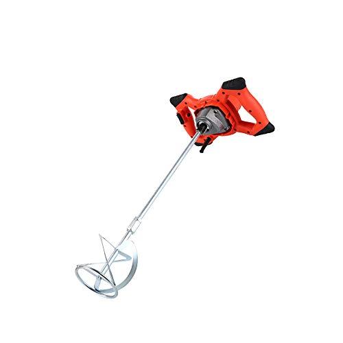 HKANG® Mörtelrührer 1800 W, 2-Gang-Getriebe, Softstart, Inklusiv Mörtelrührer Sechs-Gang-Getriebe