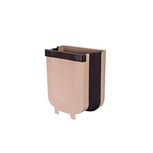 Fjsmjl Bote de Basura para Colgar en la Puerta del Armario de Cocina Bote de Basura Cubos de Basura Plegables Cubo de Basura Plegable para Colgar en la Cocina