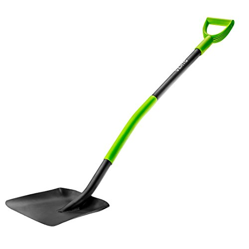 Profi Ergonomic Schaufel Bauspaten aus gehärteter Stahl Spaten Bauschaufel Gartenschaufel Gärtnerschaufel grün