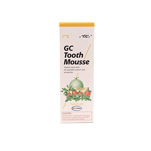 GC Tooth Mousse Pasta de dientes Tutti Frutti 35ml, Pack de 2 (2x 35ml)