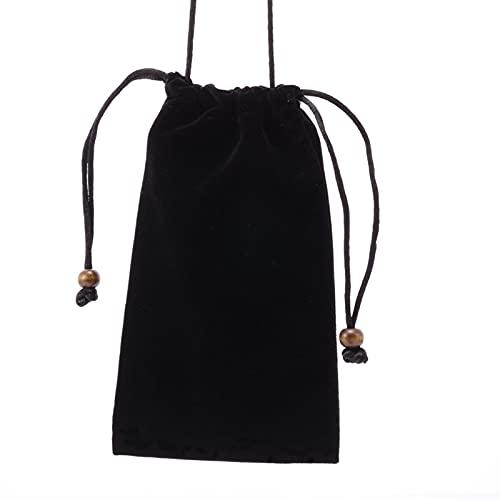 GUOQING - Bolsa de microfibra para teléfono móvil, para colgar en el cuello, para guardar gafas de sol, bolsa de microfibra para gafas de sol con cierre de cordón (7,5 pulgadas)