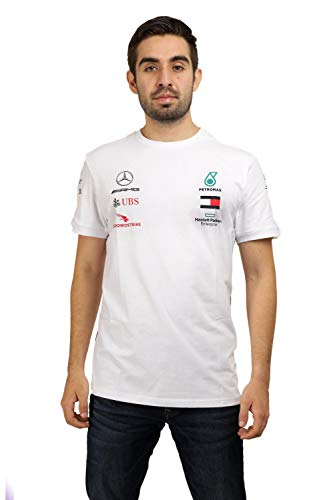 Fuel For Fans Herren Formel 1 Mercedes-AMG Petronas 2020 Team T-Shirt, Weiß, M