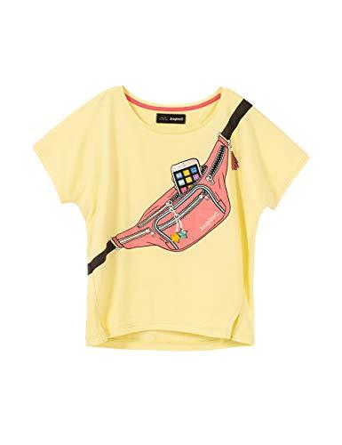 Desigual TS_jorba Camiseta, Amarillo (Amarillo Pastel 8037), 164 (Talla del Fabricante: 13/14) para Niñas