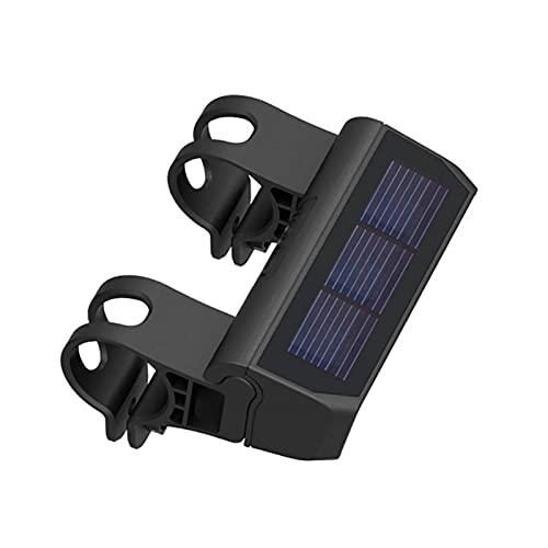 Luces solares para bicicleta – Luz delantera para bicicleta, impermeables, control inteligente de chips, impermeable IP6, con soporte de montaje ajustable, iluminación para bicicleta de montañ