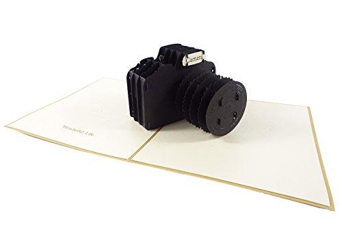 Camera Design 3D Pop Up Card Wenskaart Verjaardagskaart Fotograaf Gift