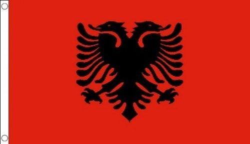Custom Albanien Albanische Wand Flagge Banner 3'x5' ft Indoor/Outdoor