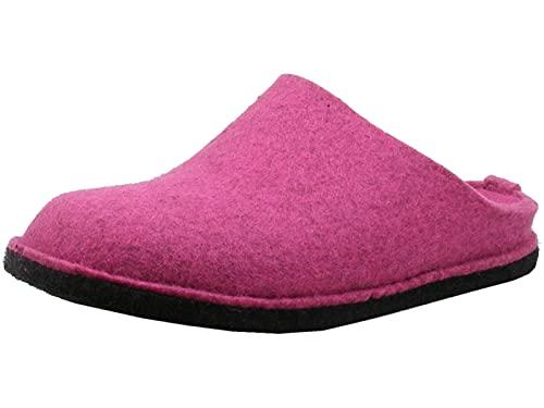 HAFLINGER Flair Soft 311010 Damen Herren Hausschuhe Pantoffeln Filz, Größe:42 EU, Farbe:Pink