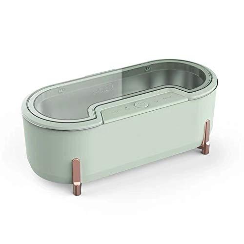 ADELALILI Ultraschall-Reinigungsgerät Objektiv Waschmaschine Kontaktlinsen-Uhr-Schmucksache-Reinigungs-Sterilisator mit 4 Modi Kleinen Purifier (Color : Grün)