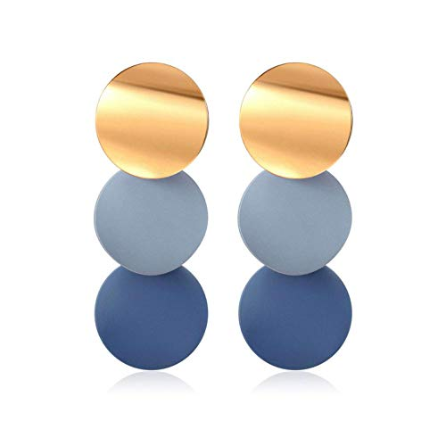 Women's Earrings Korean Acrylic Drop Earrings for Women Statement Geometric Round Gold Earring 2020 Fashion Trend Female Jewelry-Style 117G