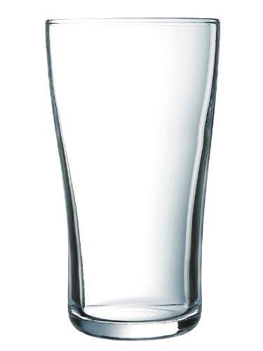 Arcoroc ARC G8563 Ultimate Pint Becher, Bierglas, 570ml, Glas, transparent, 6 Stück