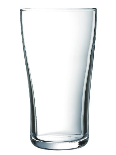 Arcoroc ARC G8563 Ultimate Pint Becher, Bierglas, 570ml, Glas, transparent, 6 Stück