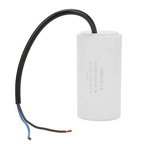 Restokki Condensatore di Marcia CBB60, condensatore di Marcia a Forma di Cilindro da 450 V 60 uf con condensatore di Marcia del Motore del Cavo per elettrodomestici