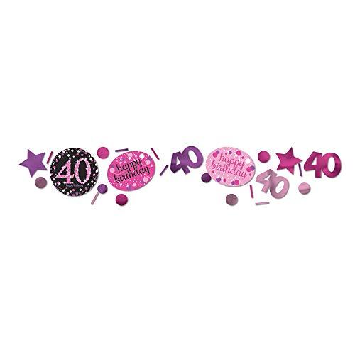 Amscan 9900602 - Konfetti 40 Sparkling Celebration, Folie/Papier, 34 g, Streudeko, Tischdekoration, Geburtstag, Happy Birthday