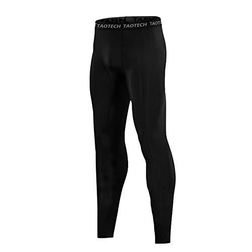 TaoTech キッズ コンプレッションウェア スポーツウェア UVカット 吸汗速乾 ジュニア フィットネス パンツ (130)