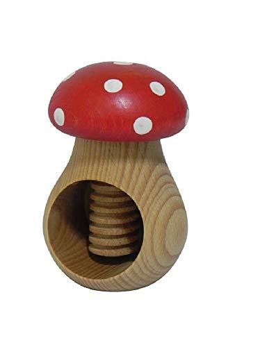 """Nussknacker """"Fliegenpilz"""" aus naturbelassenem Buchenholz, sehr stabil, ideales Weihnachtsgeschenk"""