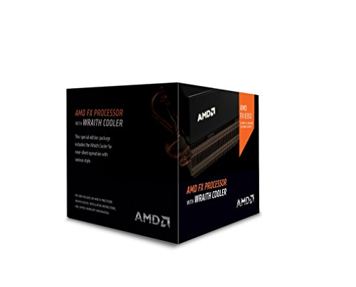 AMD FX 8-Core Black Edition FX-8350 Processor with Wraith Cooler...
