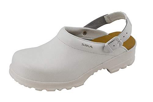 Sika 8985 Flex LBS - Mit Zehenschutzkappe - Geeignet für Pharma-, Lebensmittelindustrie, Krankenhaus und Pflege, Gastronomie (HORECA) und Küche - Weiß - Gr. 35