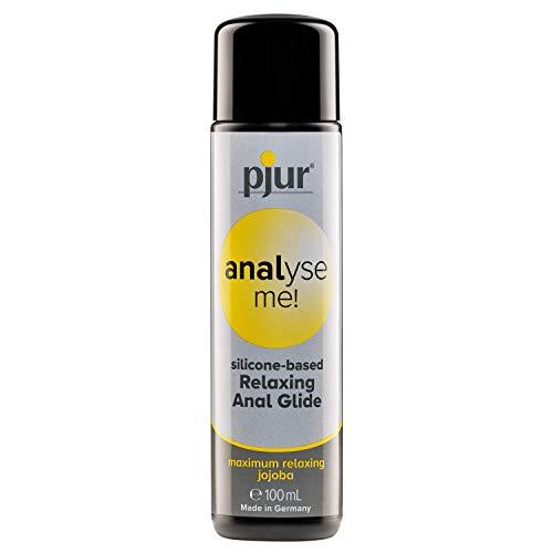 pjur analyse me! Relaxing Silicone Anal Glide - Silikon-Gleitgel für komfortablen Analsex - extra lange gleitfähig - mit Jojoba (100ml)
