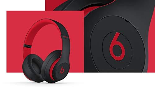 Beats Studio3 Wireless Over-Ear Headphones - The Beats Decade Collection - Defiant Black-Red (Latest Model)